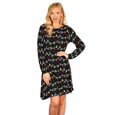 new years club dresses women christmas dresses for oneck bulb print sleeve