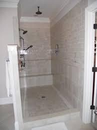 effigy of walk in shower without door in recent bathroom design
