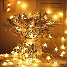 battery operated star lights promotional 14 8ft length of 40leds star string lights christmas