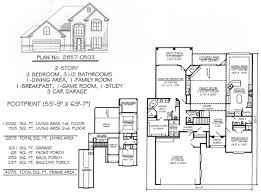 Garage House Floor Plans 2 Story 4 Bedroom Farmhouse House Floor Plans Blueprints Building