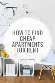 find cheap apartments for rent