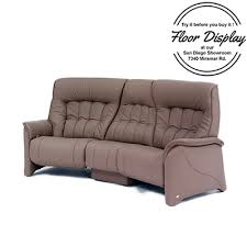 Leather Sofas In San Diego Himolla Rhine Zerostress 3 Seater Curved Manual Reclining Leather