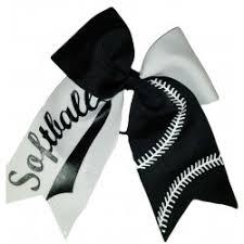 softball hair bows soccer softball bows