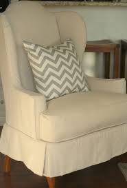 Wingback Chair Slipcover Pattern Decorating Antique Wing Chair With Stretch Slipcover Exquisite
