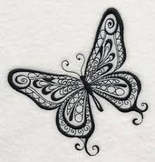 vector zentangle butterfly illustration decorative