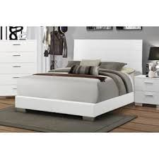 White Wood Bed Frame Glossy Bedroom Furniture For Less Overstock Com