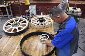 coker tire jumps into the world of wooden wheel manufacturing