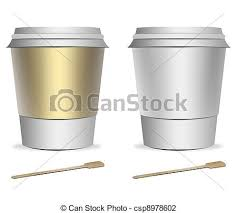 clip art of 2 plastic coffee cup templates with stirrers over
