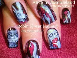 10 nail art tutorials diy scary halloween nails alice in