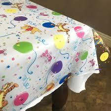 clear vinyl table protector lovemyfabric winnie the pooh s birthday clear plastic vinyl table