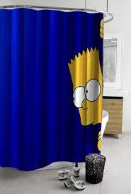 Simpsons Bathroom Bart Simpsons Shower Curtain Myshowercurtains