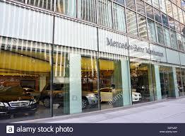 dealership usa mercedes car dealership york city usa stock photo