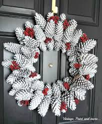 pine cone wreath pine cone wreath tutorial vintage paint and more