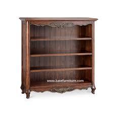 mahogany small bookshelf indonesian french furniture teak
