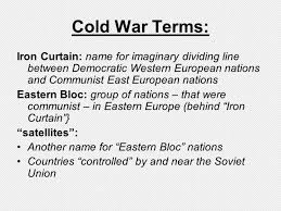 What Does The Term Iron Curtain Refer To The Term Iron Curtain Refers To Division Created By