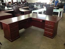 T Shaped Office Desk Furniture Sauder L Shaped Cherry Computer Desk Thediapercake Home Trend