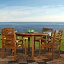 Home Depot Charlottetown Patio Furniture - martha stewart living charlottetown brown 5 piece all weather