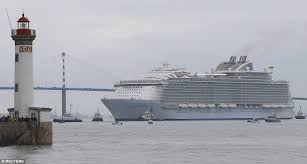 largest cruise ship in the world world u0027s largest cruise ship harmony of the seas leaves southampton