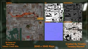 Fallout 3 Maps by Artstation Fallout 3 Laser Rifle Hero Prop 2d Game Art