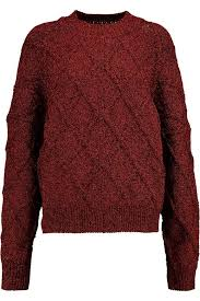 cable knit sweater womens marant metallic cable knit sweater s