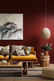 living room pale red wallpaper accent unusual pendant lamp