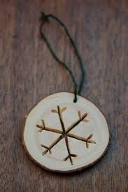 diy wood burned rustic snowflake ornaments factory direct craft