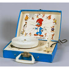tele tone woody woodpecker record player