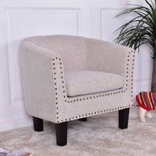 Microfiber Armchair Natuzzi Armchair Accent Barrel Back Arm Chair Beige Microfiber Tub