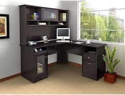 Corner Desk Furniture Bush Cabot L Shaped Desk With Optional Hutch Hayneedle