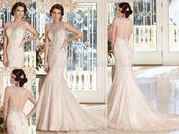 open back wedding dress v neck sleeveless open back bridal dress