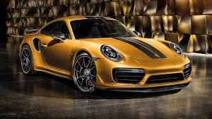 gold porsche convertible porsche 911 turbo s exclusive series strikes gold with 607 hp