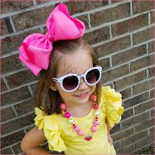 cool hair bows stacked basic color 4 inch hair bow bargain bows