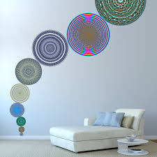 wall sticker sets and murals conspicuous design 9 piece geometric circle wall sticker set as mural in living room