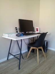 ikea bureau treteau chambre bureau avec plan de travail faire un bureau avec plan de