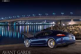porsche night blue night blue porsche panamera on m510 rims by avant garde u2014 carid