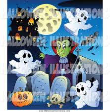 spooky cemetery clipart royalty free ghost stock halloween designs
