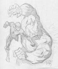 spiderman and rhino by ryanottley on deviantart
