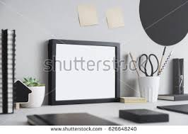 Desk Picture Frame Mock White Frame Dry Twigs Vase Stock Photo 561148501 Shutterstock