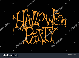 vector illustration halloween party hand sketched stock vector