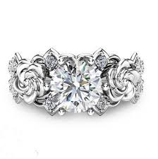 925 sterling silver engagement rings created moissanite floral 925 sterling silver engagement ring