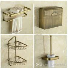 Bathroom Hardware Sets Antique Brass Bathroom Accessories Set Bath Shelf Towel Bar Paper
