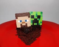 minecraft cake topper minecraft cake topper etsy