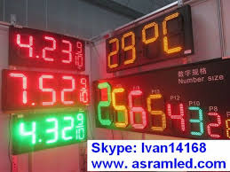 sinoela humidity temperature 7 segment led clock display led