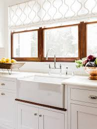 kitchen window design ideas choosing window treatments for your kitchen window home bunch