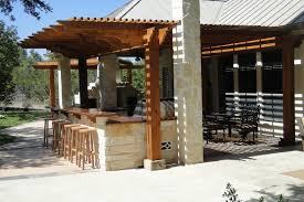Outdoor Kitchen Backsplash Ideas Smart Outdoor Kitchen Idea With Backyard View Equipped With L
