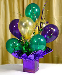 balloon centerpiece ideas party ideas by mardi gras outlet air filled balloon centerpieces
