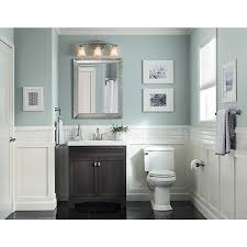Furniture Like Bathroom Vanities by Allen Roth 3 Light Vallymede Brushed Nickel Bathroom Vanity