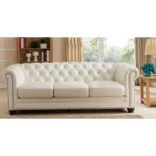 White Leather Living Room Set Leather Furniture