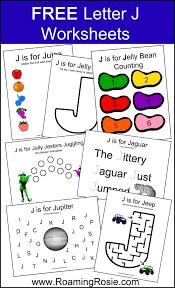 letter j free alphabet worksheets for kids roaming rosie