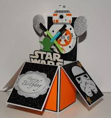 wars congratulations card wars bb8 happy birthday handmade 3d pop up greeting card
